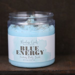 Blue Energy Whipped Soap Scrub