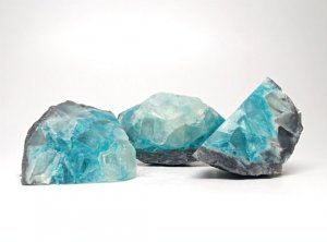 Blue & Gray Topaz Geode Soap Set